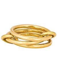 Spinelli Kilcollin For FWRD Solarium Gold Ring - Mettallic