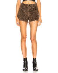 Alexander Wang - Bite Leopard Shorts - Lyst