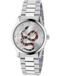 Gucci 38MM G-Timeless Schlangen-Armbanduhr - Mettallic