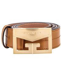 Givenchy Mystic Leather Belt - Brown