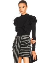 Veronica Beard - Dawson Long Sleeve Top In Black - Lyst