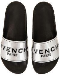 Givenchy Slide Sandal - Mettallic