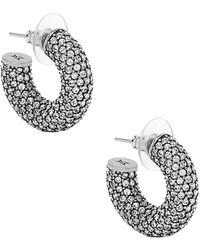 AMINA MUADDI Cameron Hoop Mini Earrings - Metallic