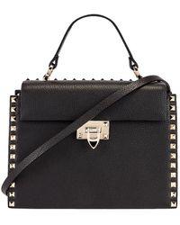 Valentino Rockstud Top Handle Bag - Black