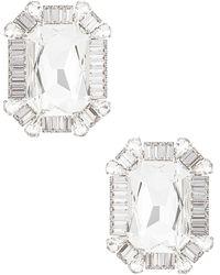 Alessandra Rich Square Clip Earrings - Metallic