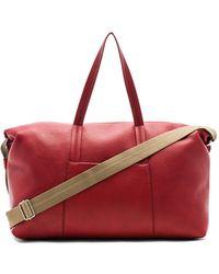 Maison Margiela Soft Leather Duffel Bag - Red