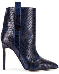 Paris Texas Snake Print Ankle Boot - Blau