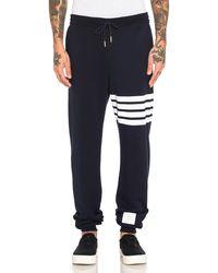 Thom Browne Engineered Stripe Sweat Pant - Blue