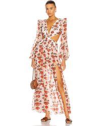 PATBO Seashell Long Sleeve Beach Dress - Mehrfarbig