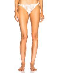 La Perla - Desert Rose Brazilian Panty In Off White - Lyst