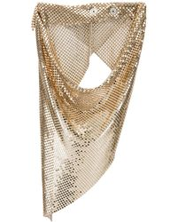 Paco Rabanne Draped Mesh Necklace - Metallic
