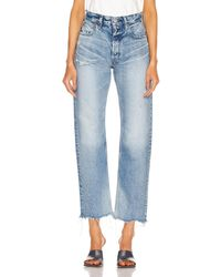 Moussy Lomita Wide Straight - Blue