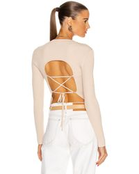 Jonathan Simkhai Arwen Open Back Pullover - Mehrfarbig