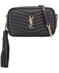 62a3e606c7 Leather Monogramme Mini Lou Crossbody Bag - Black
