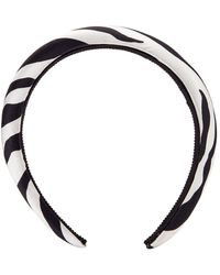 Jennifer Behr Tori Printed Headband - Black