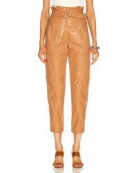 Jonathan Simkhai Vegan Leather Leela Paperbag Waist Pant - Multicolor
