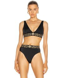 Versace Sport Bikini Top - Schwarz