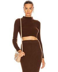 ANDAMANE Enny Crop Sweater - Brown