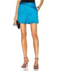 Helmut Lang Organza Shorts - Blue