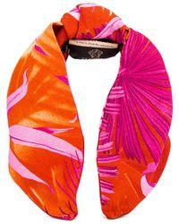 Versace Palm Headband - Orange