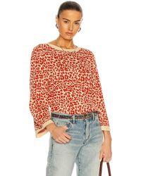 Saint Laurent Leopard Pullover - Orange