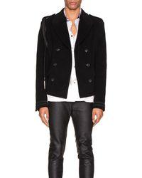 Amiri Double Breasted Corded Short Coat - Black