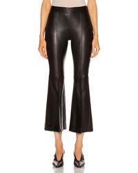 Rosetta Getty Pull On Cropped Flare Pant - Black