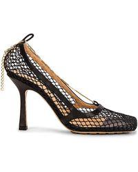 Bottega Veneta Mesh Ankle Strap Sandals - Schwarz