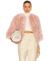 Yves Salomon Feather Jacket - Pink