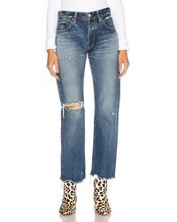 Moussy Guilford Straight Leg - Blue