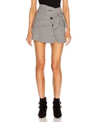 Marissa Webb Katrina Plaid Skirt - Gray