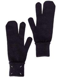 Maison Margiela Two Finger Gloves - Blue