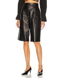Acne Studios Leather Short - Black