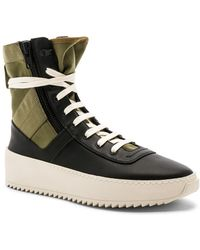 Fear Of God - Men's Jungle High-top Leather Sneakers With Canvas Insets - Lyst