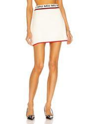 Miu Miu - Wool Mini Skirt - Lyst