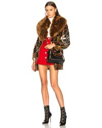 Fendi Patchwork Lamb & Alpaca Fur Coat - Brown
