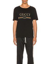 Gucci Logo Oversize Washed Tee - Schwarz