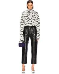 Givenchy - Zebra Print Oversized Turtleneck Sweater - Lyst