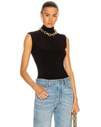 Norma Kamali Slim Fit Turtleneck Top - Black