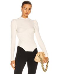Fleur du Mal Corset Sweater - White