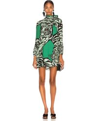 Valentino - Georgette Tiger Print Dress - Lyst