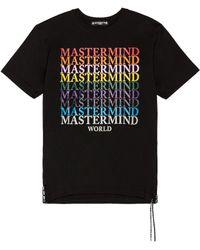 MASTERMIND WORLD Multi Logo Tee - Black