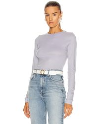Enza Costa For Fwrd Fitted Long Sleeve Crew - Grey