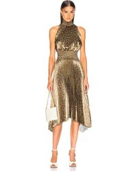 A.L.C. - Spotted Leopard Foil Renzo Dress - Lyst