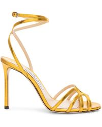 e553adcc914 Marc Jacobs Sybil Ankle Strap Sandals in Metallic - Lyst