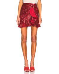 Self-Portrait - For Fwrd Sequin Ruffle Skirt - Lyst