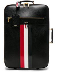 Thom Browne - Pebble Grain & Calf Leather Wheeled Travel Bag - Lyst