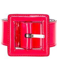 Saint Laurent Patent Leather Belt - Pink