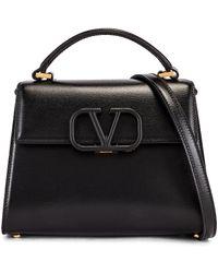 Valentino Small Vsling Top Handle Bag - Black