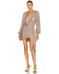 Jonathan Simkhai Roxi Sequin Wrap Dress - Multicolour